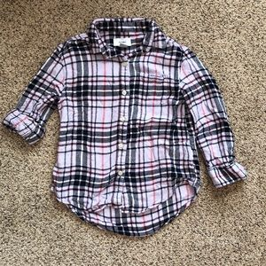 Girls Old Navy plaid button down size Small